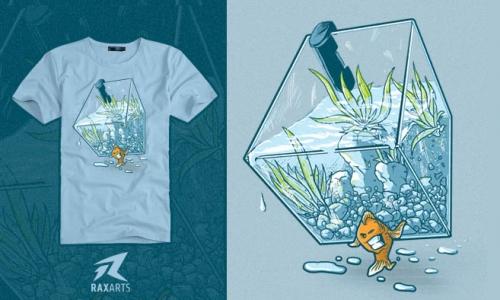 Detail návrhu Migrující rybička