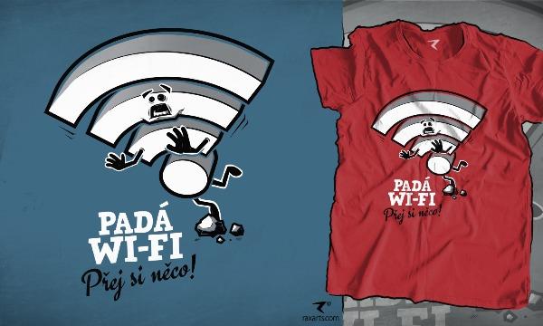 Detail návrhu Padá Wi-Fi....  Přej si něco