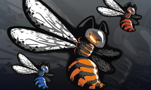 Detail návrhu Wasp, menší uprava a barevné verze