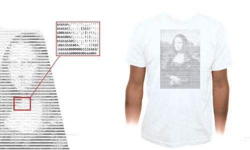 Detail návrhu ASCII Mona Lisa