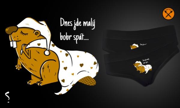 Detail návrhu Dnes jde malý bobr spát...