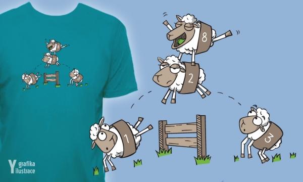 Detail návrhu Jedna ovečka, druhá ovečka...