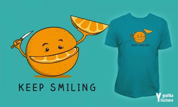 Detail návrhu KEEP SMILING