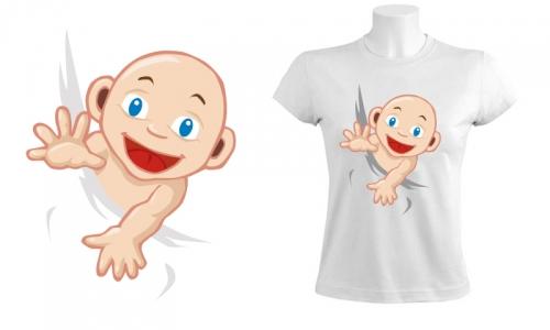 Detail návrhu Čouhající dítě