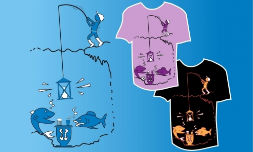 Detail návrhu rybář