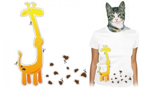 Detail návrhu Vystřihni žirafu!