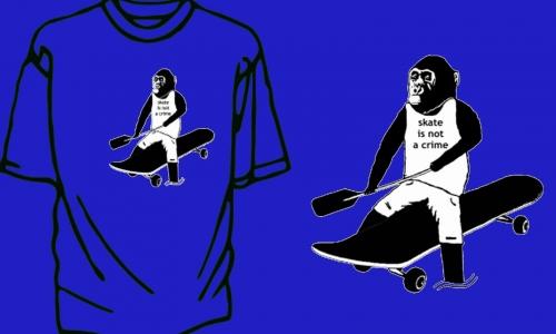 Detail návrhu skate is not a crime
