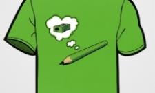 tužka a ořezko s bublinami