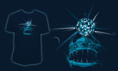 Detail návrhu Mořský disco ďas