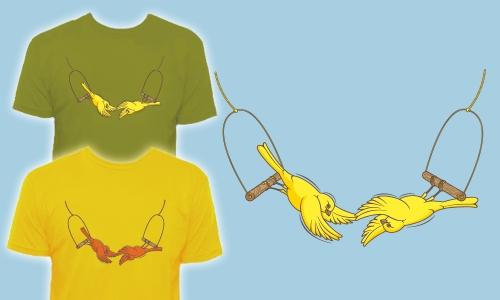 Detail návrhu Ptačí akrobaté