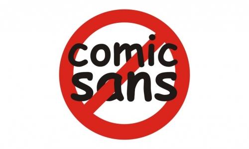 Detail návrhu Fuck Comic Sans
