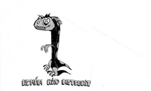 Detail návrhu  dinosaur po meteoritu