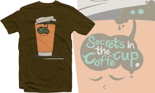 Detail návrhu Secrets in the coffe cup