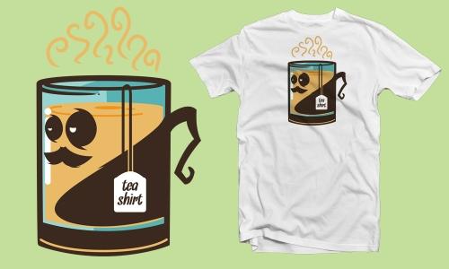 Detail návrhu tea shirt