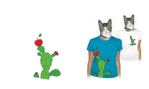 Detail návrhu kaktus a jablko