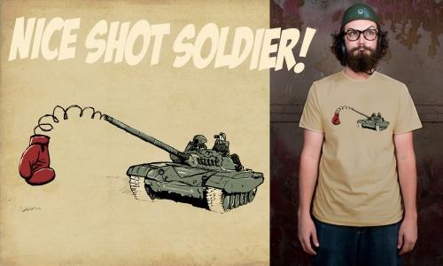 Detail návrhu Nice Shot Soldier
