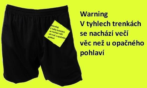 Detail návrhu Warning velikost↔