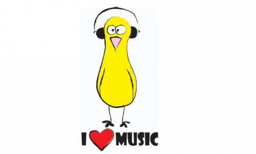 Detail návrhu i love music