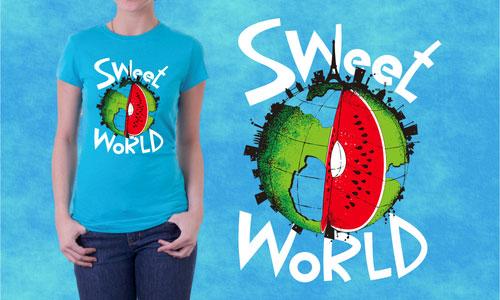 Detail návrhu Sweet world