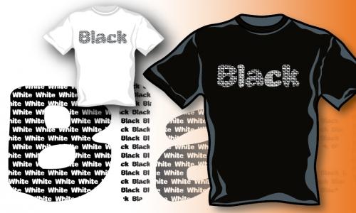 Detail návrhu Black or White