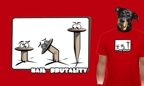 Detail návrhu Nail brutality