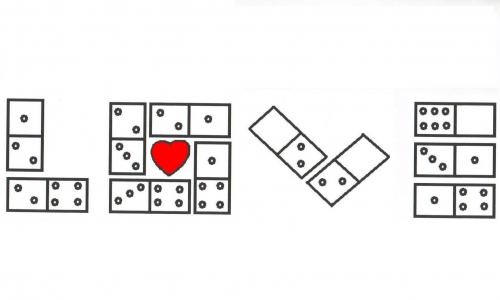 Detail návrhu domino love