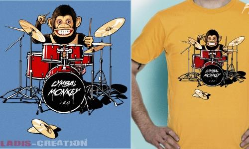 Detail návrhu Cymbal monkey