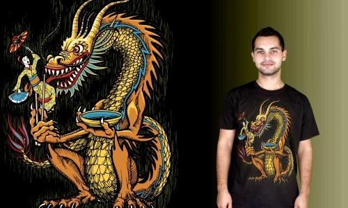 Detail návrhu Hladový dragon