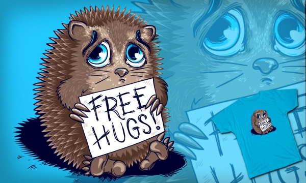 Detail návrhu Free Hugs