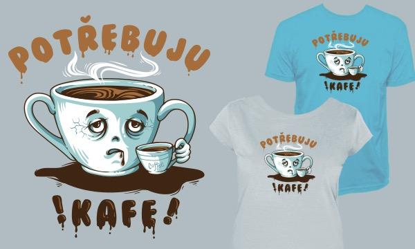 Detail návrhu Potřebuju kafe!