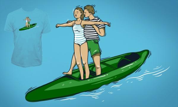 Detail návrhu Romance na vodě