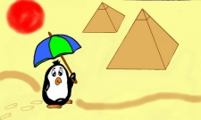 tučňák na poušti
