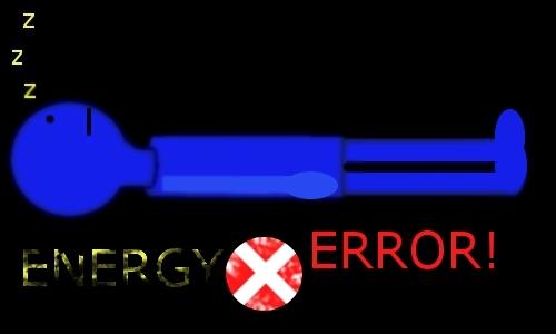 Detail návrhu energy error