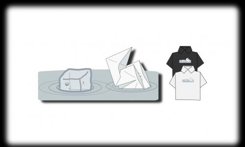 Detail návrhu Origami: Parník