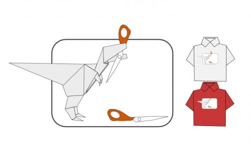 Detail návrhu Origami vs. Nůžky (Bez kamene)