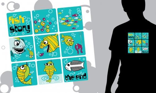 Detail návrhu Fish story