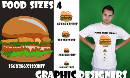 Detail návrhu Food Size 4 Graphic Designers