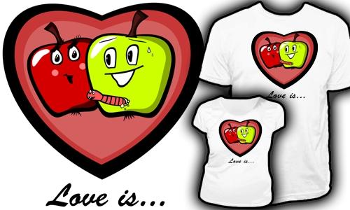 Detail návrhu Love is ...(2)