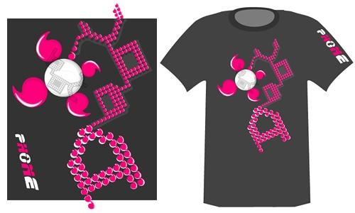 Detail návrhu PINK logo VODAfone