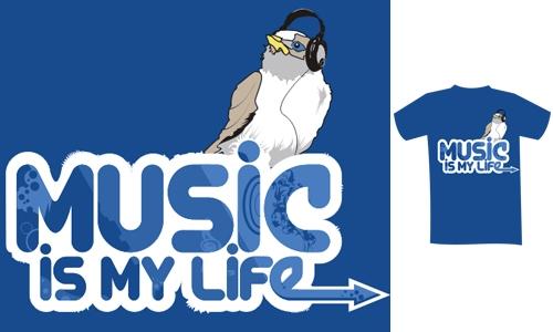Detail návrhu Music is my life