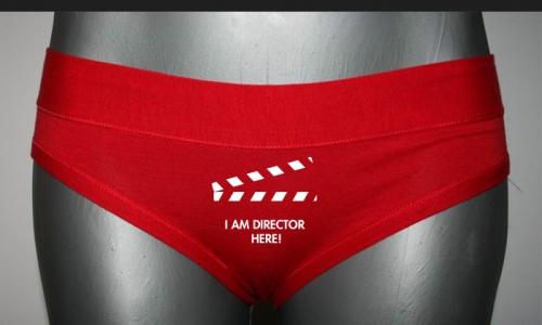 Detail návrhu I AM DIRECTOR HERE - kalhotky