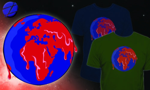 Detail návrhu zeměkoule