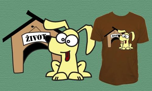 Detail návrhu Zivot je pes