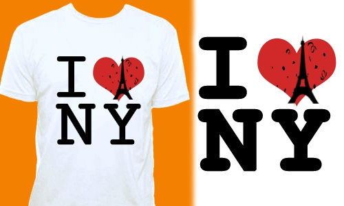 Detail návrhu I LOVE NY