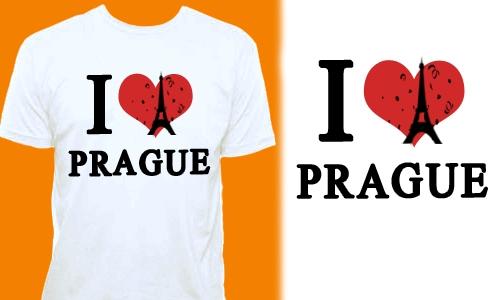 Detail návrhu I LOVE PRAGUE 2