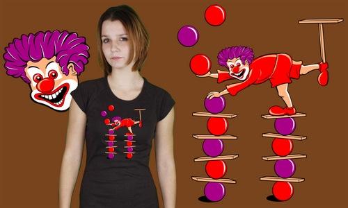 Detail návrhu Veselý klaun