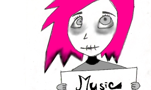 Detail návrhu Emo loves music