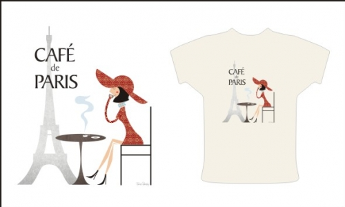 Detail návrhu Cafe de Paris