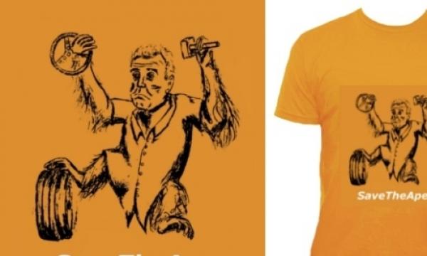 Detail návrhu Save the ape