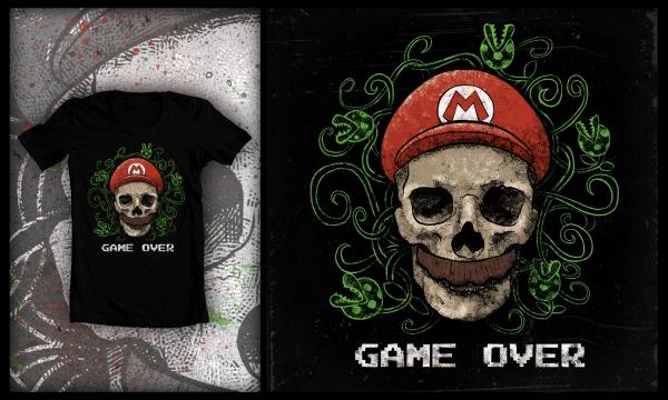 Detail návrhu GAME OVER